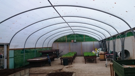 Picture of polytunnel with ventilation