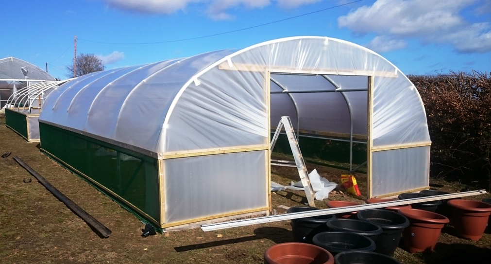 Polytunnels under construction