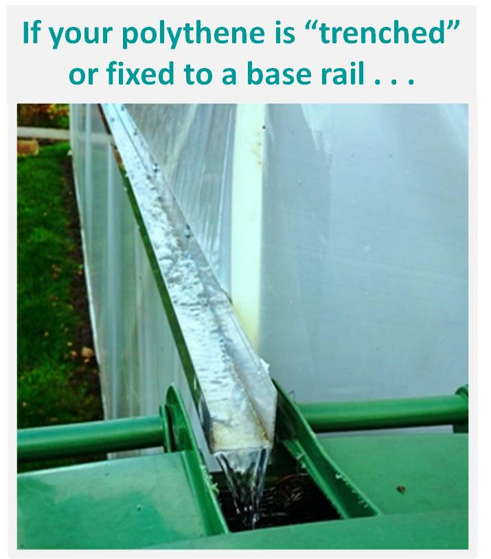 Polytunnel Gutter Fixed To Polytunnel Hoops Page 1
