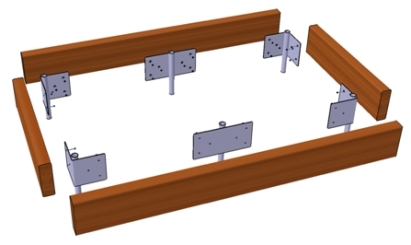 raised bed kits | raised beds 1890mm wide (6ft 2in)