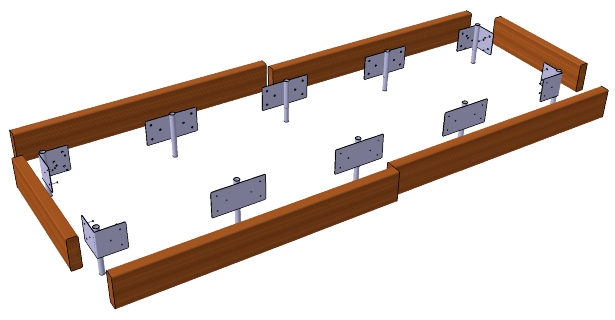 Raised Bed Kits Raised Beds 1890mm Wide 6ft 2in